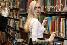 Photoshoot ideas - Hot librarian