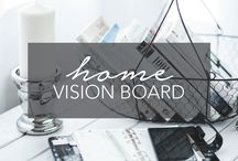 Home Vision Board | Design & Decor Inspiration / Create a space that inspires, delights and WOWs your guests! Home decor, home design, decor inspiration, interior design, interior styling. http://www.happygrace.com/