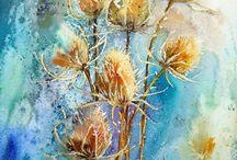 Akwarelowe kwiaty