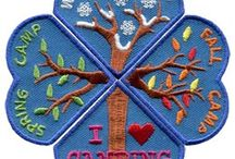 I Love Camping Set / Do you love camping? The I Love Camping set comes in four beautifully embroidered seasonal pieces each measuring 2.1'w x 1.8'h for an overall size of 3.6'w x 3.6'h. Use as a reward for each seasonal camp your group goes to or for yourself. If you love camping at all times of the year then this is the set for you.