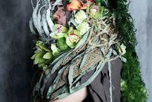Floral fashion show - Under the sea / Květinová módní přehlídka pro 75. Zahradnický ples v paláci Žofín. Práce studentů ZF MENDELU v Lednici. Téma: Podmořský svět.