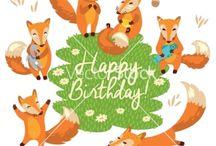 Fox Happy birthday cards