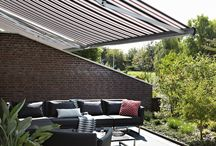 Awnings / Bring comfort and individuality outdoors. Enjoy your patio and the outdoor space on a warm summer evening or even in cooler weather with a Luxaflex® awning. Our stunning Dickson Orchestra and Sunbrella fabric collections offer a gorgeous variety of choices – from traditional solid colours and smart stripes to gorgeous jacquard designs. See our board for awning inspiration.