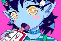 Omocat / OMOCAT é uma artista Asiático/americana, Ela trabalha com ilustrações avulsas, quadrinhos, estampas de roupas O estilo de desenho da moça é simplesmente o máximo!Ela varia entre ilustrações bem lúdicas e coisas mais sinistras (sendo esse segundo tipo mais voltado para as artes autorais dela e o primeiro sendo mais pra fanarts), eas referências de muitas das ilustrações dela vêm de coisas que, como eu, muitos de vocês também devem amar: Jogos de vídeo game, animes.
