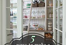 Pantry ideas / Organizational pantry ideas, pretty pantry spaces, organized pantry, pantry shelves
