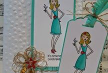 Cards - In This Together / Looking at skin colors, layouts, background treatments and outfit coloring. / by Hill Country Stampin'