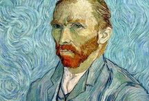 VINCENT VAN GOGH / VINCENT WILLEM VAN GOGH (30 March 1853 – 29 July 1890) was a Dutch post-Impressionist painter whose work had an influence on 20th-century art. His output includes portraits, self portraits, landscapes and still lifes. He drew as a child but did not paint until his late twenties; he completed many of his works during the last 2 years of his life. In just over a decade, he produced more than 2,100 artworks, including 860 oil paintings and more than 1,300 watercolors, drawings, sketches and prints.
