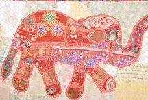 Elephant Patchwork Tapestry