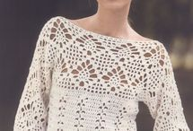 blusas crochê