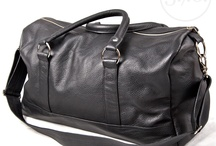 3.7.6. weekender bags - black natural leather / Natural leather weekender bags in various colors and finishes. For Him and for Her.