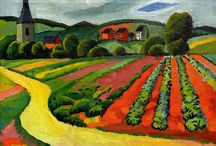 """August Macke"" / Feel free to pin any photos from the artist August Macke. If you want to be invited just follow the board or comment ADD ME on one of the ADD ME Pins. / by Kunst für Alle"