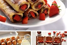 Strawberry nuttela roll