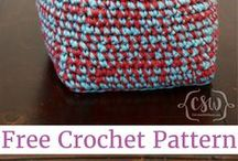 thick crochet baskets.