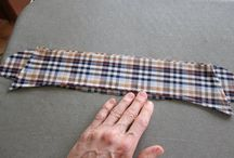Attaching collar and stand to a man's shirt