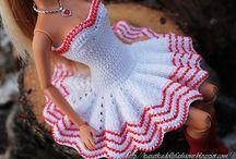 roupas de crochet p bonecas
