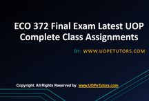 Eco 372 final exam latest uop complete class assignments