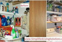 Organizing Your Laundry Room / Organizing ideas for your laundry room, including before and after pictures from our client work.