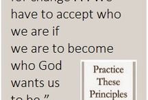 The Virtue of Acceptance / Quotes about the virtue of acceptance, one of the principles of recovery in the 12 Steps of Alcoholics Anonymous and related recovery fellowships. Accompanying text on website.