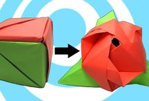 Origami Flowers Video Instructions / How to make an origami flowers (roses, tulips, edelweiss and etc.)
