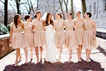 all things bridesmaid / lunch. dresses. gifts.