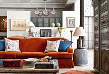 The Living Room / Is there anything better than plopping down on the couch after a long day? Here are some inspiring living room setups that we would love to hang out in...    Interior design, home decor, textile design, bohemian, interiors, couch, sofa, cool rugs, throw pillows, chairs, light fixtures, natural light, throws.