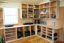 woodworking ideas for organised shelves and benches with storage for garage ideas