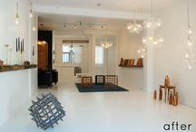 A Making Space / Studio space, a place to create in, sewing room, crafting, drawing, making. / by Moozle