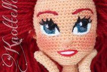 Capelli occhi... bamboline / Tante idee per rifinire amigurumi