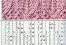 Bladstrikk mønster