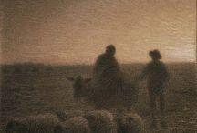 Jean François Millet / Ay,Çoban ve koyunları
