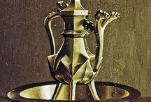 średniowieczne naczynia metalowe