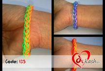 Loom bands rubber bracelets. / All bracelets made with loom and handmade. And + point is everything at very low rate.