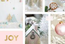 Pastel Christmas. / Decor ideas for a pastel Christmas, decorating with pastels at Christmas