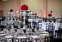 Classic Modern Weddings in Detroit / The beautiful look of #black, #white, and #red! A classic wedding made better with a Modern twist! Keeping all of the things you love like red flowers, three tiered cakes, long tables filled with beautiful #crystal and tall #candles while keeping the look and feel updated.If your looking for a unique contemporary wedding. http://www.yourethebride.com  248-408-4602 / tracie@yourethebride.com #yourethebride #modern