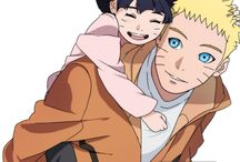 Naruto and Himawari