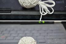 Coisas com lã e pano