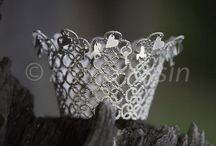 """Pretty princess / My collection """"Nupperell"""" in 925 (sterling) silver. This is a Norwegian folktale-inspired crown,  handcrafted. This will be promoted as a wedding-crown."""