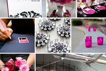 Chic and Whimsical Black and White wedding / A chic, simple yet extravagant Black, White and Pink wedding incorporating fun and personal details with modern touches.