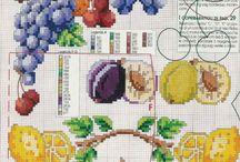 punto croce frutta