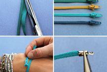 Zipper bracelets / by Danette