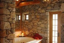 Stone Bathrooms  / Natural Stone Veneer creates a Zen bath environment