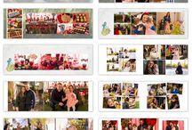 Photobook templates / Algumas ideias de diagramação, temas e layout de álbuns
