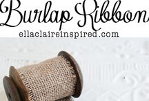 Craft with Burlap / Ornaments / by Tammy Click