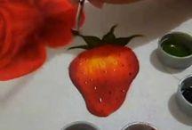 Pintura morango