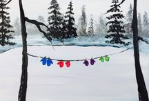 Winter Paintings + Inspiration / Our favorite winter paintings and inspiration to get you ready for the winter season.