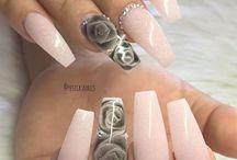 Roses Nail Art/ Rose Manicure/ Aquarelle Roses Nails Ideas/ Róże Aquarelle NeoNail/ Manicure z różą