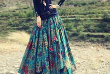 Floral skirt/lehenga