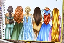 me and my freinds disney princess