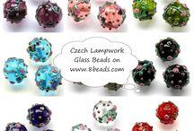 Lampwork glass beads / Czech handcrafted lampwork glass beads: http://8beads.com/en_czech-beads-handmade-lampwork-c-3_41.html  We're Czech Preciosa Ornela beads, Japan TOHO beads e-shop. In English = 8beads.com In Czech = koralkomat.cz In Russian = biser.ru