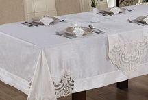 kumaş masa salon takimlari
